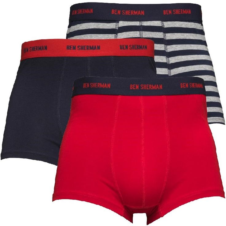 Ben Sherman Mens Austin Three Pack Boxers Ben Sherman triple pack of stretch jersey boxers. http://www.MightGet.com/february-2017-2/ben-sherman-mens-austin-three-pack-boxers.asp