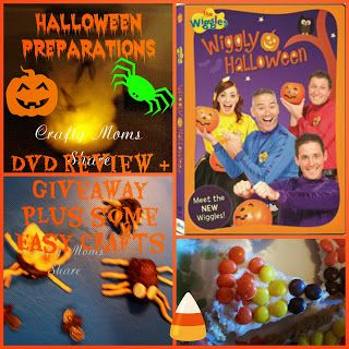 Crafty Moms Share: Halloween is Coming: Wiggly Halloween DVD Review & Giveaway with Halloween Crafts