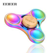 Fidget Spinner EEIEER Hand Spinner High Speed NSK R3 Bearing Titanium Alloy Toys Anxiety Stress Adults Kid Metal finger spinners(China (Mainland))