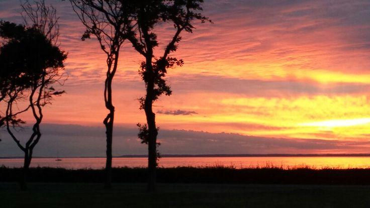 Sunset in Bogense, Denmark