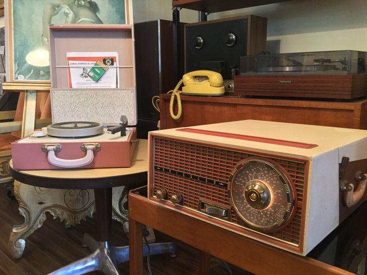 Portable record players at Multisonics. 20th Century Hi Fi in Thornbury, Melbourne, Australia