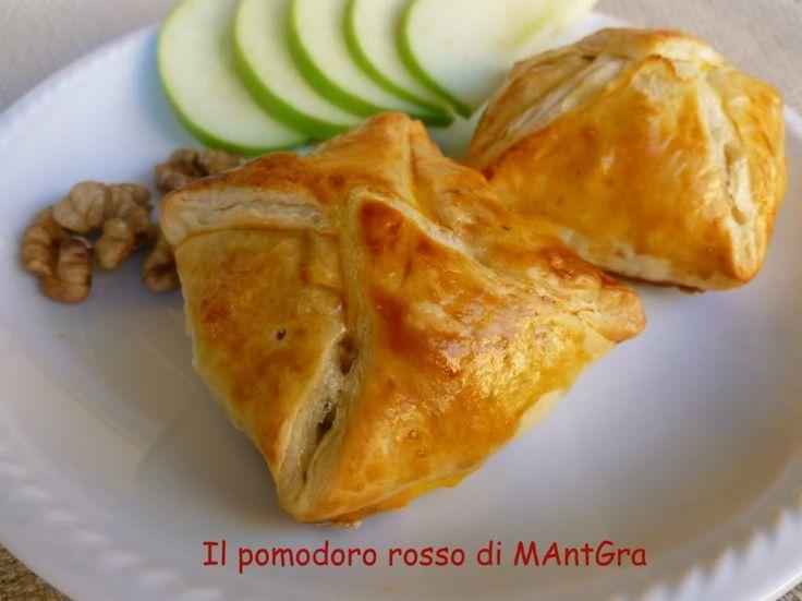 Il Pomodoro Rosso di MAntGra: Fagottini di mele verdi, fontina e noci