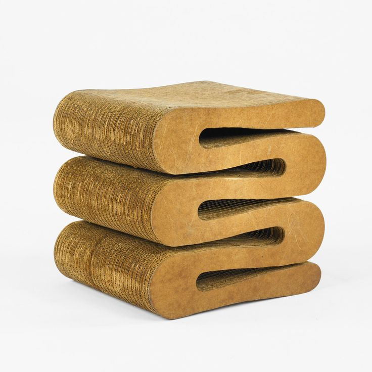 Frank Gehry Wiggle Stool Paper Amp Cardboard Furnitures
