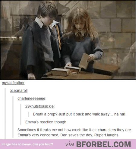 Emma, Daniel And Rupert Being Much Like Their Characters Naturally…