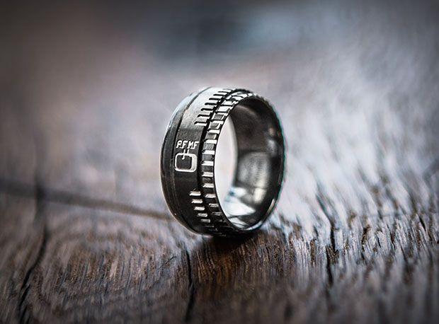 Lens-Inspired Wedding Ring