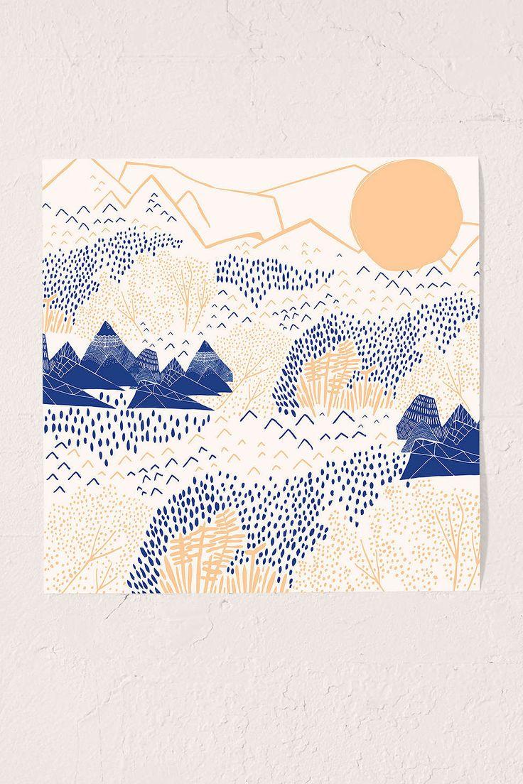 Leah Duncan Mountain Blossom Art Print - Urban Outfitters