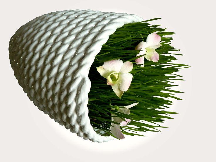 Porcelánová mísa - PROVAZ DESIGN / bílá /- 15% PROVAZ DESIGN je limitovaná kolekce, která se postupně rozrůstá o další designové kousky. Porcelánová mísa je dvojčetem provazové mísy. Může ležet na boku nebo ve stočeném provaze. Velikost mísy je 22 cm X 18 cm. Dodává se jako mísa na ovoce a závěsný obal na rostliny na přírodním provaze. V současné době ...