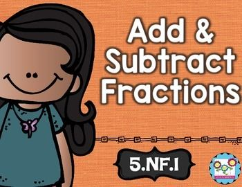 Adding and subtracting fractions:This math set is tied directly to the fifth grade common core NF.1.This set is the perfect tool to teach your students the first standard in the common core. By completing the activities in this set, your students will understand how to add and subtract fractions with unlike denominators.