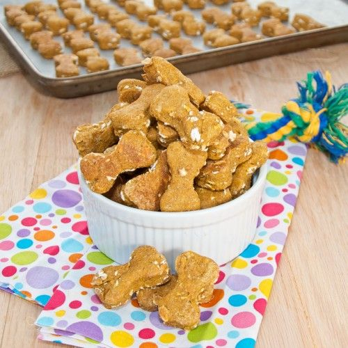 Peanut Butter Pumpkin Dog Treats {Sweet Pea's Kitchen}