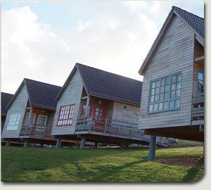Vakantiehuizen bij de baai van de Somme - tof detail: geen bloemenperken maar groetenperken!