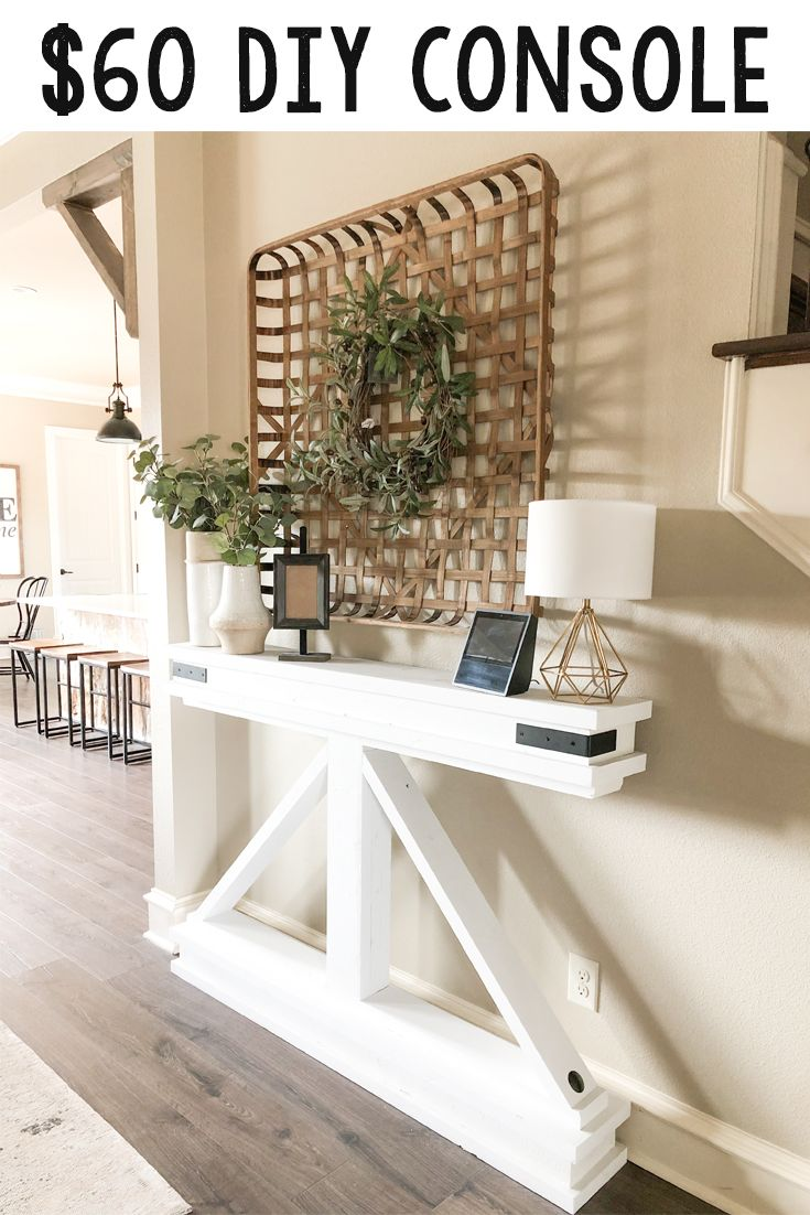 10++ Diy skinny console table trends