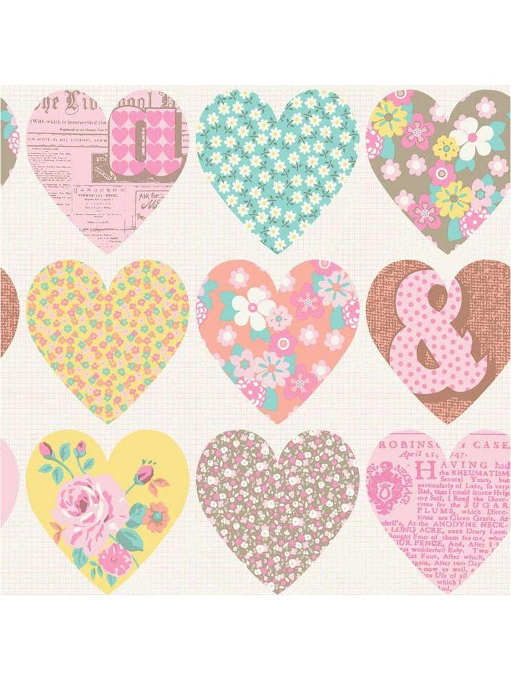 Patchwork Heart Pastel Wallpaper, http://www.very.co.uk/arthouse-patchwork-heart-pastel-wallpaper/1600070663.prd