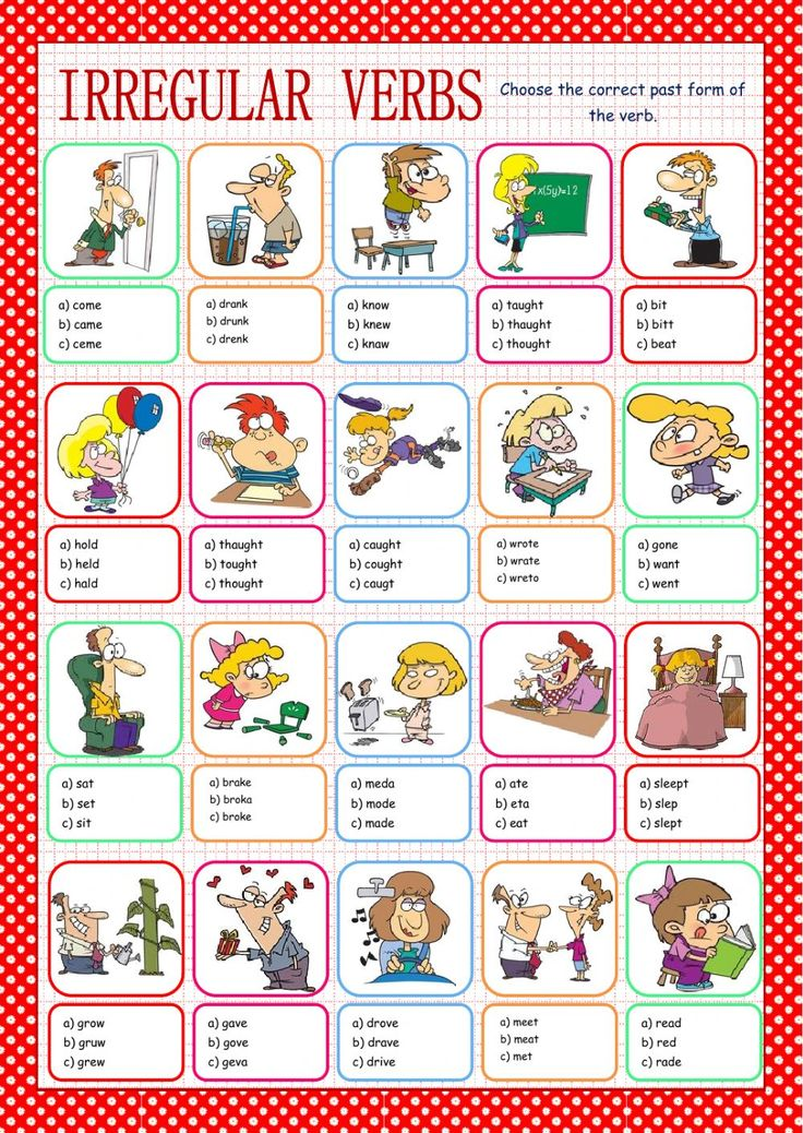 irregular verbs Learn spanish verbs and their conjugations with these handy drills and quizzes at studyspanishcom.
