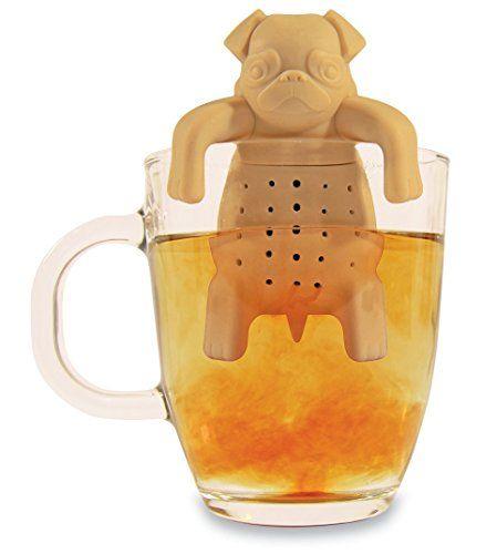 Noki Infuseur à thé en silicone en forme de carlin pour tasse