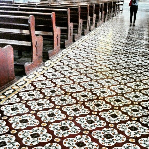 Church floor details