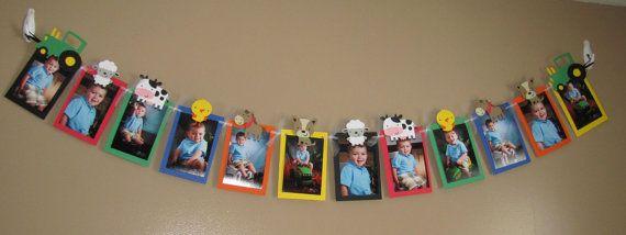Granja animales Tractor foto Banner para cumpleaños fiestas y