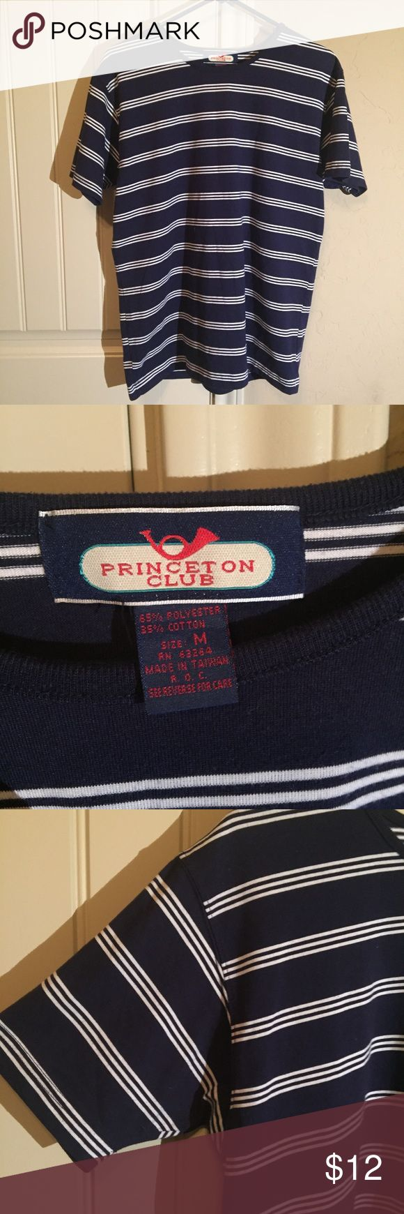 Striped Blue and White Shirt Navy Nautical Tee Great condition! Beautiful blue and white striped tee shirt. Very nautical. Size Medium. Ask for measurements if you're interested! princeton club Tops Tees - Short Sleeve