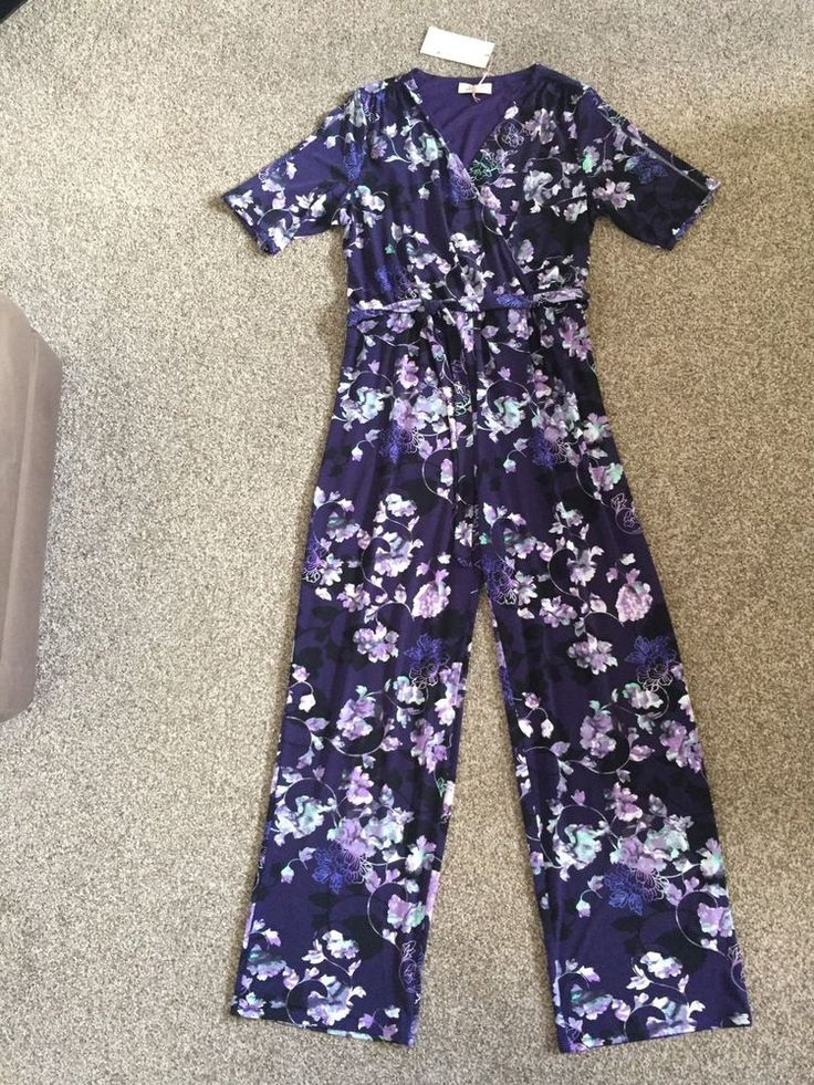 M&S PER UNA Ladies Jumpsuit with Belt UK14 Regular BNWT RRP£45 Floral