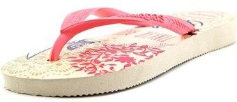 Havaianas Slim Tinkerbell Youth Open Toe Synthetic Pink Flip Flop Sandal.