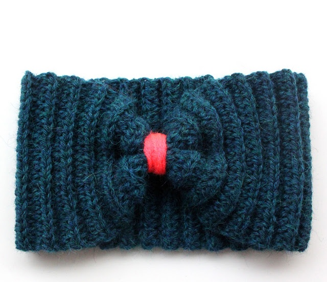 Crochet Headband. Cool if the middle yarn is neon