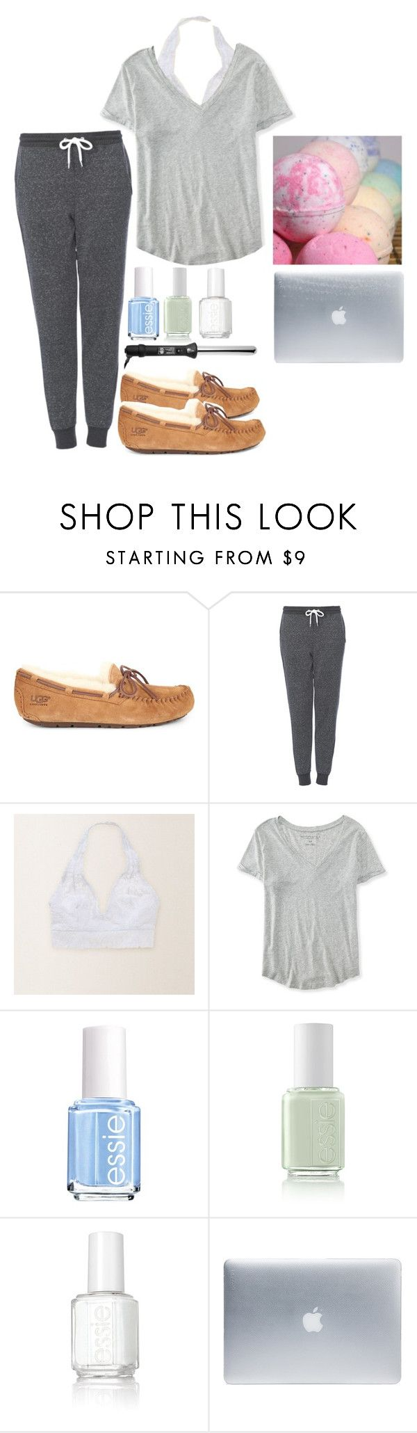 """Spa day tomorrow"" by emmaaagildea on Polyvore featuring UGG Australia, Topshop, Aerie, Aéropostale, Essie, Incase and Sephora Collection"
