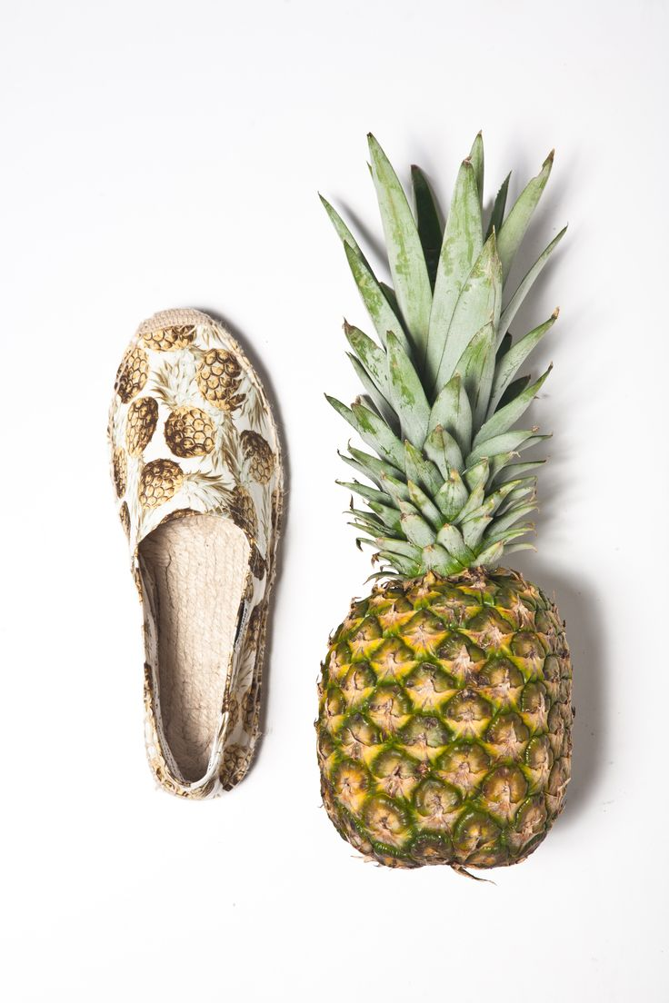 Tackle spring fashion trends handily with this ikat print maxi length - Fresh Fruit Pineapple Print Soludos Espadrille