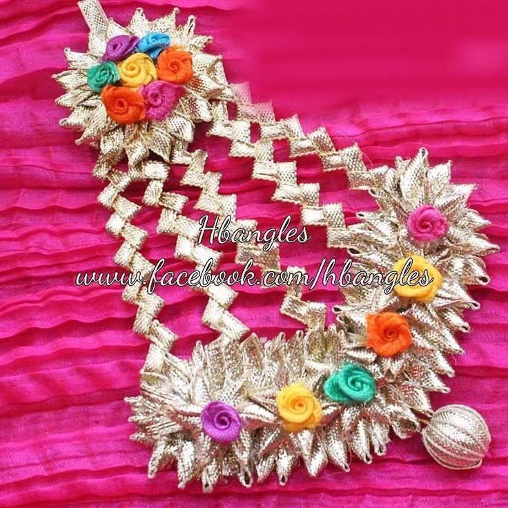 Flower Bangles Mehndi : Best images about gota jewellery on pinterest flower