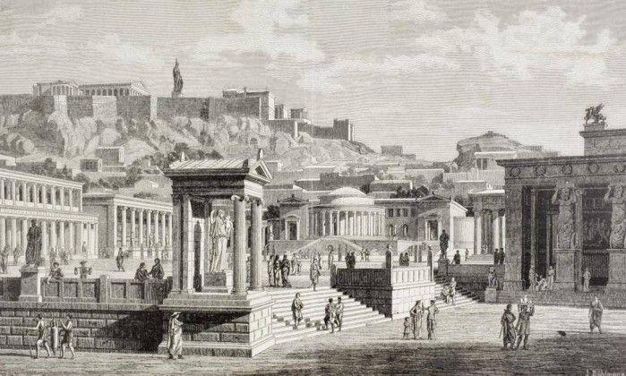 HISTÓRIA - Pintura de 1880 que recria a Grécia Antiga
