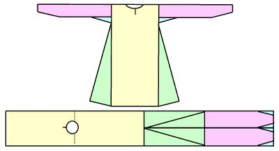 Good example of how they took care not to waste fabric. Yellow = body, purple = sleeves, green = gores. This diagram makes it very easy to see where each of the rectangles and triangles ends up in the final garment..... NOTE: Follow the link for lots of great info and photos of Viking clothing, including pants.