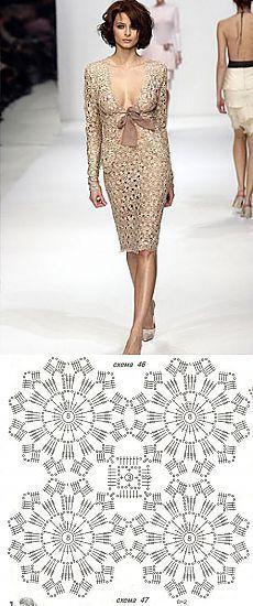 crochet elegante Terno, crochet Para as Mulheres | Laboratório Doméstico