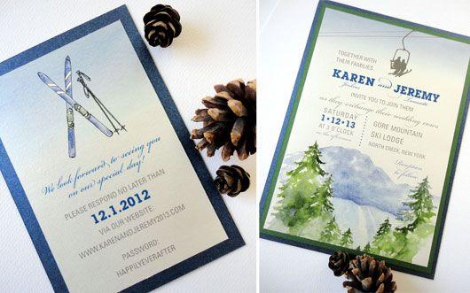 Ski Lodge Invitation