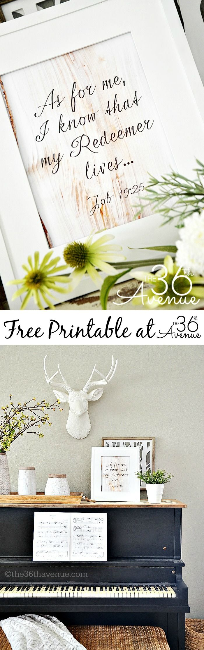 Easter - Free Easter Printable for your Easter decor! Love this scripture.