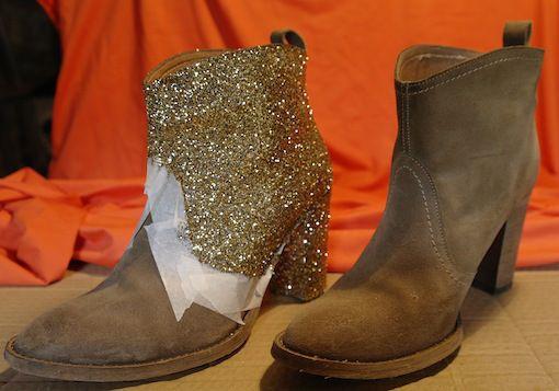 Boots à paillettes