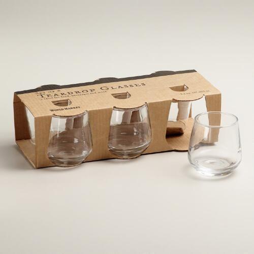 One of my favorite discoveries at WorldMarket.com: Teardrop Tasting Shot Glasses, Set of 6