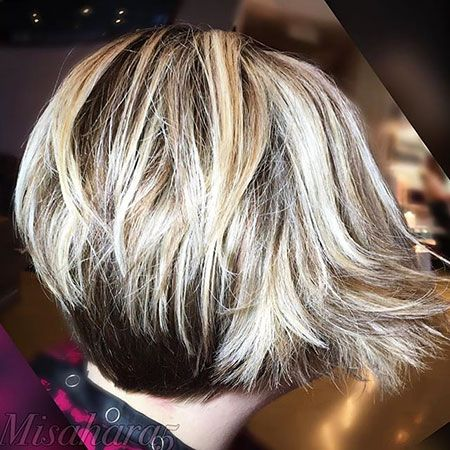 Stacked Messy Bob-back view. 100 New Bob Hairstyles 2016 – 2017 - Love this Hair