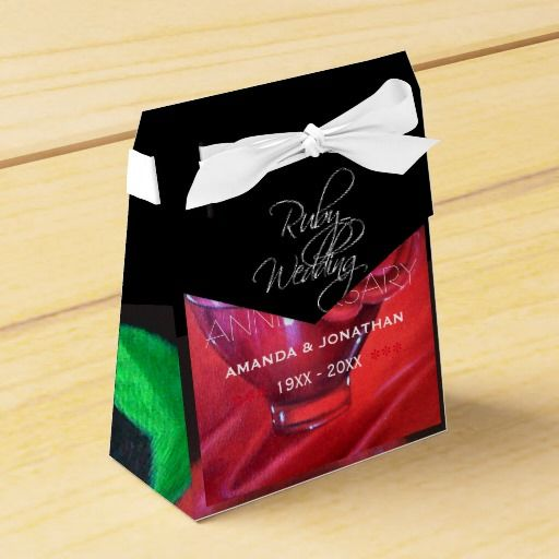 40th Ruby Wedding Anniversary Commemorative Party Favor Box