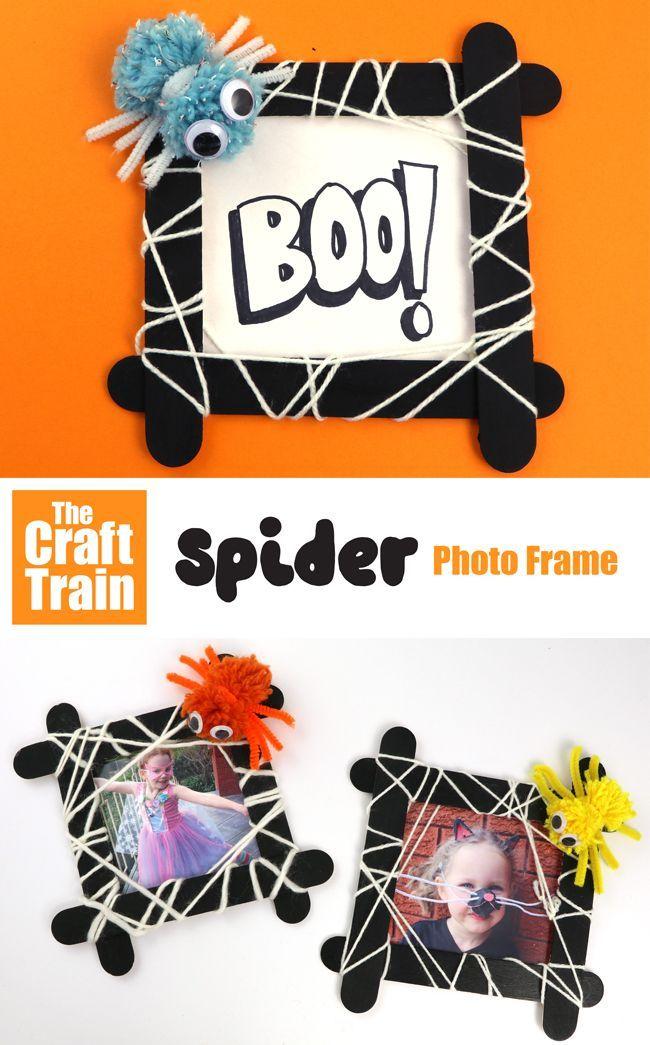Spooky Spider Frame Halloween Arts Crafts Halloween Crafts