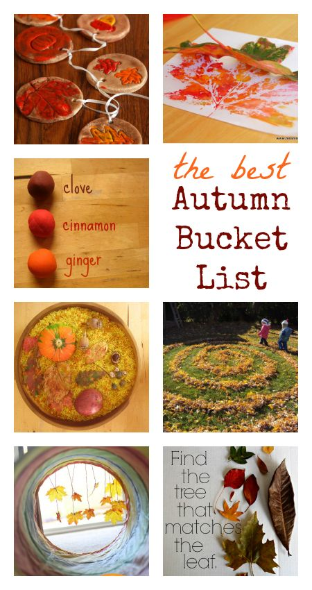 fall bucket list for kids :: autumn activities :: fall play ideas :: things to do in fall