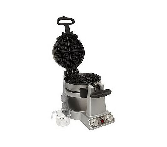 My in-laws got us this last year.  We have 6 people in our family, so making double waffles is FABULOUS.  We love it!