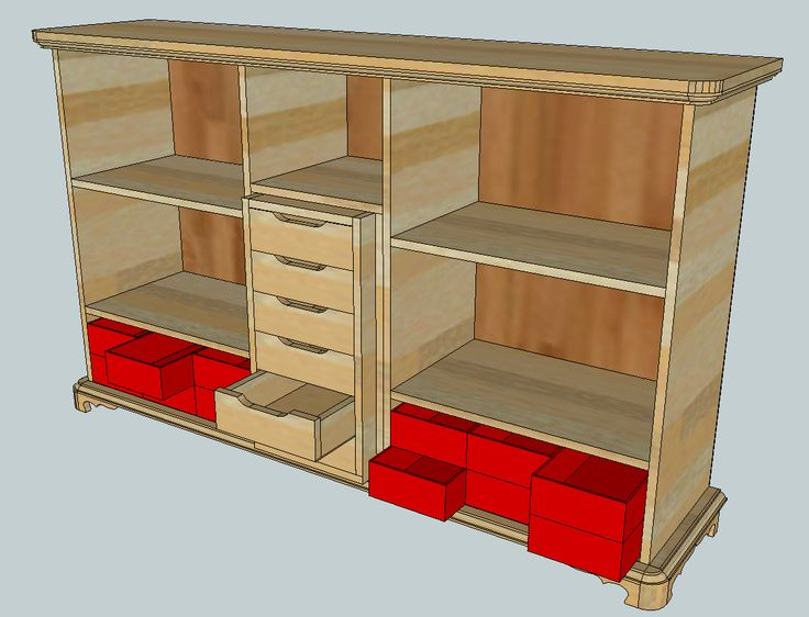 Cubby Shelf / Toy shelf / Kinderregal / Spielzeugregal --> Plywood:  depth 18mm.