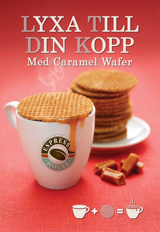 Caramel Wafer 2011. This little wafer takes you coffee experience to a whole other level! Simply put it on the top of your cup and the steam from your coffee will melt the delicious caramel sauce in the wafer, enjoy!