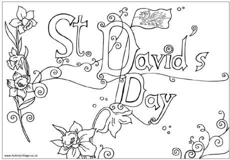 st david\'s day coloring pages | St David's Day, 1st March - colouring page | Wales/Cymru ...