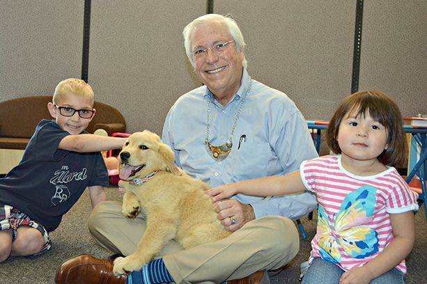 Cherokee Nation welcomes therapy puppy for foster children
