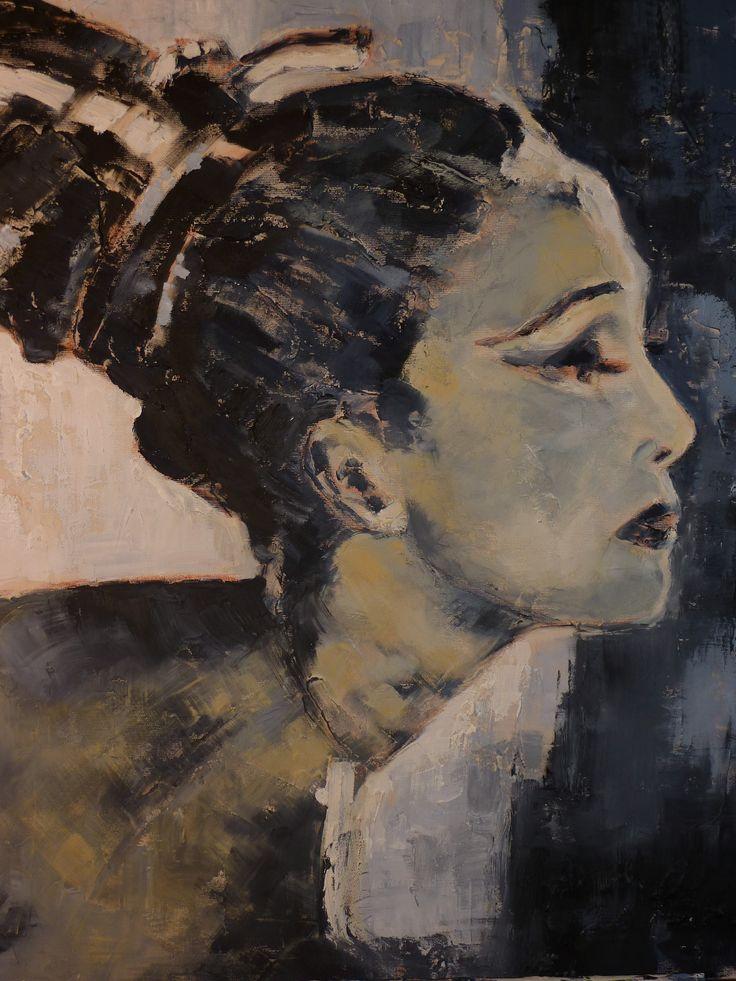 """Tribute to Martha Graham"" (Omaggio a Martha Graham) 50x60"