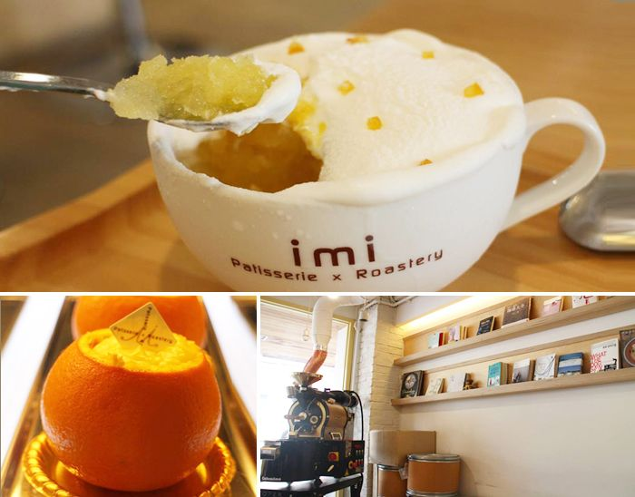 Imi, where fresh cream and oranges meet | ☞ Address: 7, Donggyo-ro 25-gil, Mapo-gu, Seoul ☞ Directions: Get off at Hongik University Station (Seoul Subway Line 2 & Airport Railroad Line) Exit 1, go straight and turn right at the four-way intersection. Then, turn left in the first alley. ☞ Hours: 11:30-23:00 (open all year round, please check the hours in advance.) ☞ Inquiries: +82-2-6368-5228 (Korean)