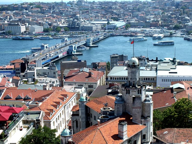 The panoramic view of Galata and Eminonu neighbourhoods of Istanbul. Galata Bridge links only European part of the city. The waterway is called as Golden Horn(Χρυσόκερας, Chrysoceras). Walking over the bridge and feeling the atmosphere of the city, that is fascinating experience. #galata #galatabridge #goldenhorn #istanbul