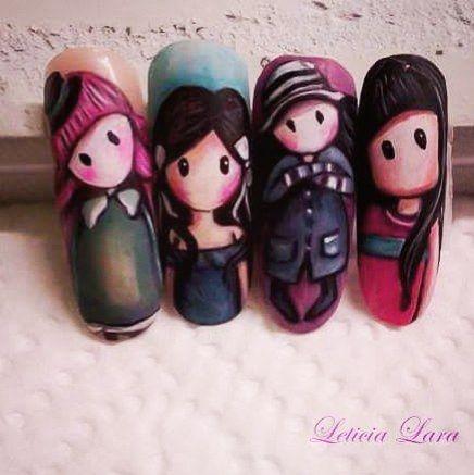Viernes de gorjuss  #nails #nail#nailpolish#gorjuss #uñas #unhaslindas #paintingnail #painting #nailworld #nailworks by leticialaragomez