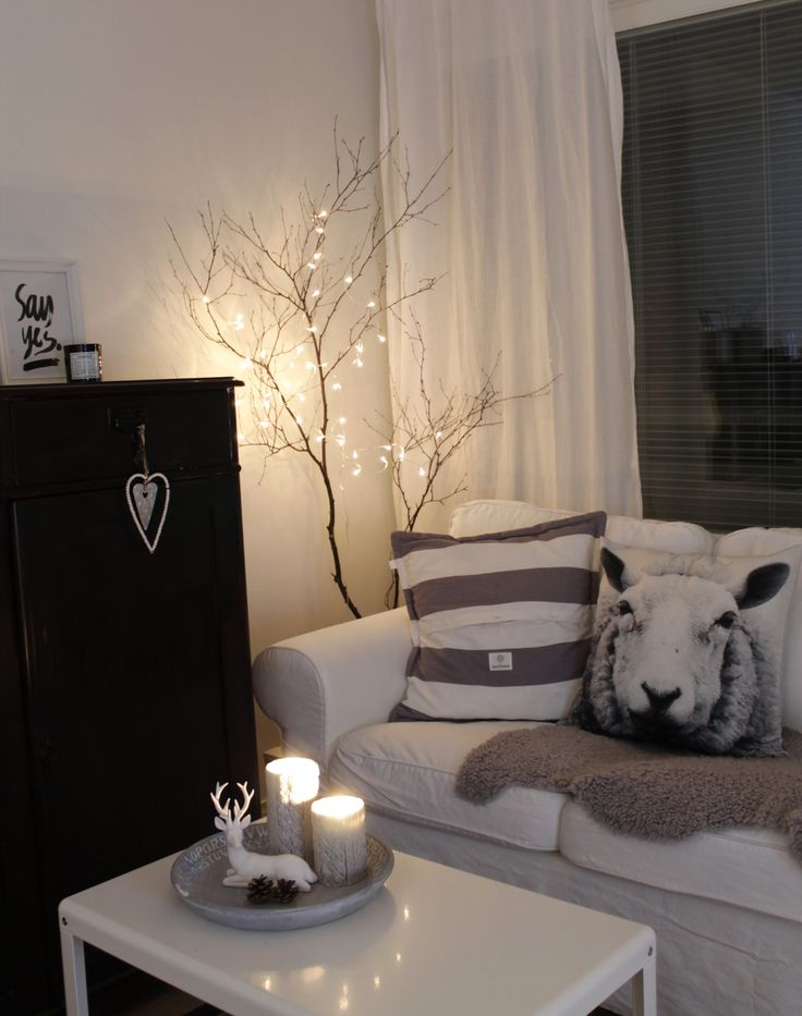 Livingroom, DIY-light, Autumn/Winter Mood, Ikea Ludde, Ikea Ektorp, White
