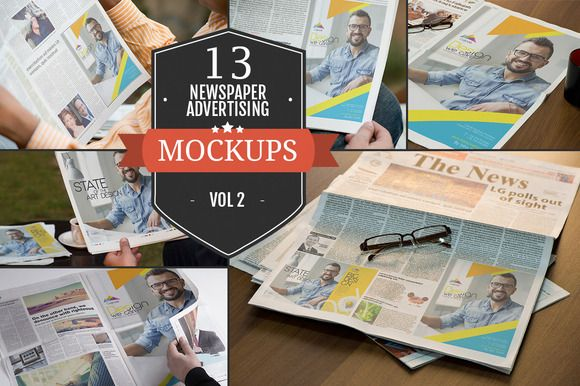 Newspaper Advertising Mockups Vol. 2 by ZippyPixels on @creativemarket