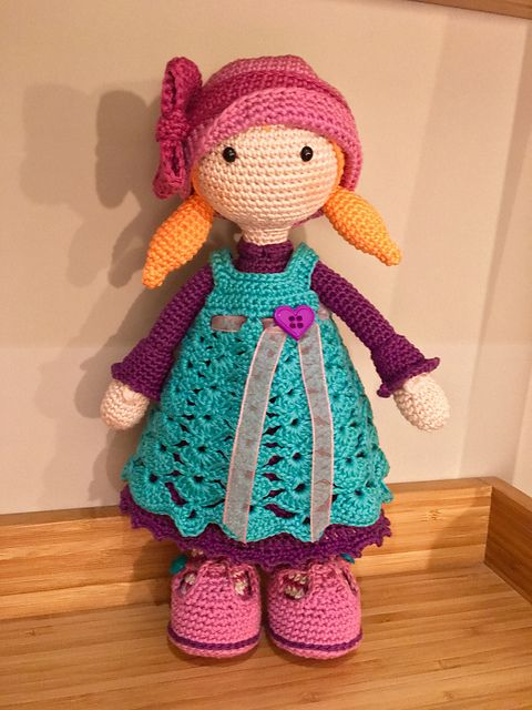 This listing is for an extensive PDF file which contains full instructions for crocheting and finishing off the doll CELINE.